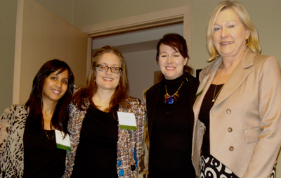 (left to right) Anjana Moitra-Ohri, Kirsten Sutton, Janet Austin, Evi Mustel