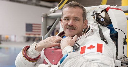 "Col. Chris Hadfield Phones Home: ""Good Morning Earth"""